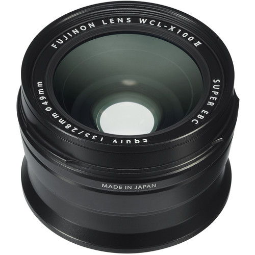 Fujifilm WCL-X100 II Wide Conversion Lens (Black)