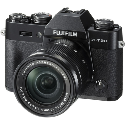 FUJIFILM X-T20 Mirrorless Digital Camera with 16-50mm Lens (Black)