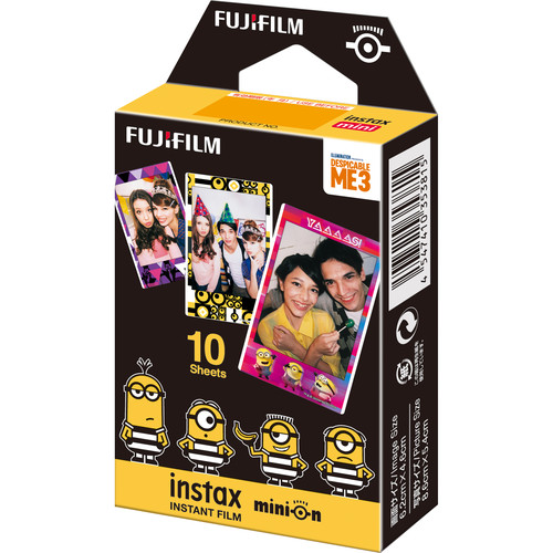 FUJIFILM INSTAX Mini Minions Despicable Me 3 Instant Film (10 Exposures)