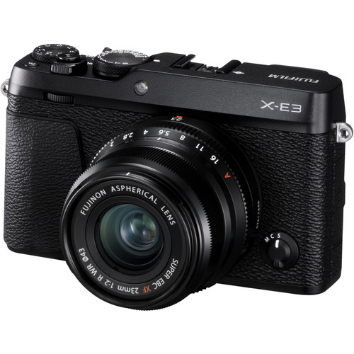 FUJIFILM X-E3 Mirrorless Digital Camera with 23mm f/2 Lens (Black)