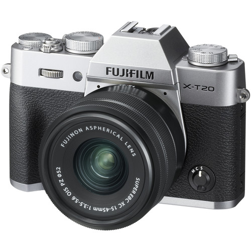 Fujifilm X-T20 with XC 15-45mm Lens (Silver)