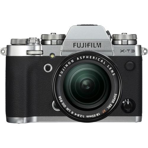 FUJIFILM X-T3 Mirrorless Digital Camera with 18-55mm Lens (Silver)