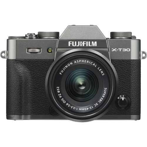 FUJIFILM X-T30 Mirrorless Digital Camera with 15-45mm Lens (Charcoal Silver)