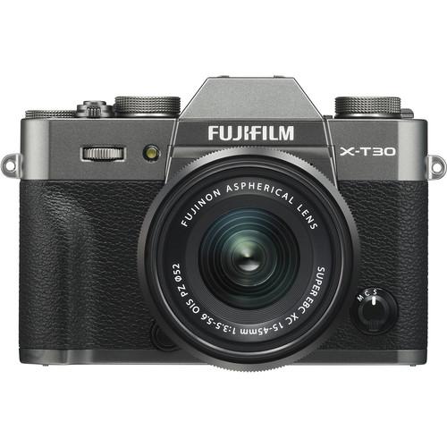 FUJIFILM X-T30 Mirrorless Digital Camera with 15-45mm Lens (Charcoal Silver)