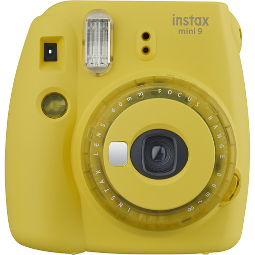 FUJIFILM INSTAX Mini 9 Instant Film Camera (Yellow with Clear Accents)