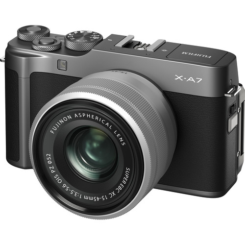 FUJIFILM X-A7 Mirrorless Digital Camera with 15-45mm Lens (Dark Silver)