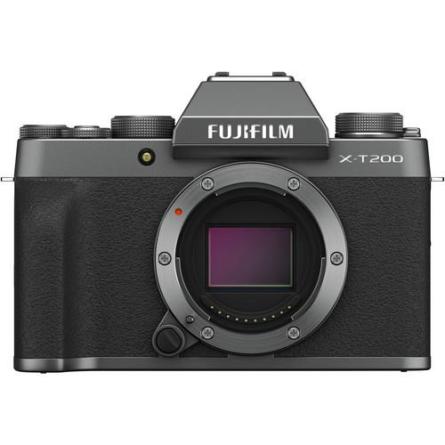 FUJIFILM X-T200 Mirrorless Digital Camera (Body Only, Dark Silver)