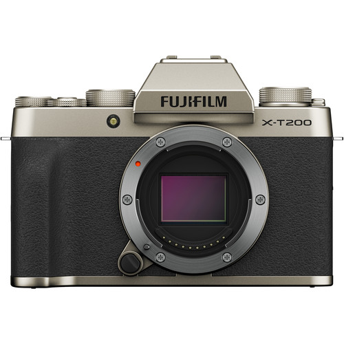 FUJIFILM X-T200 Mirrorless Digital Camera (Body Only, Champagne Gold)