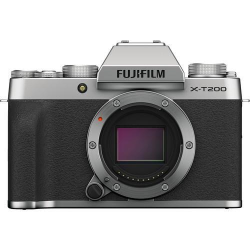 FUJIFILM X-T200 Mirrorless Digital Camera (Body Only, Silver)