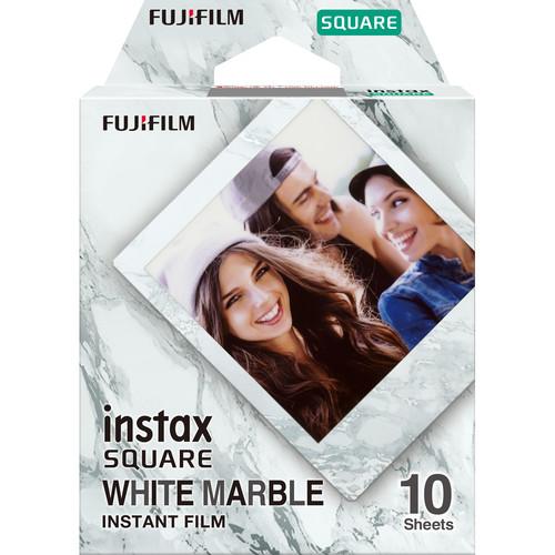 FUJIFILM INSTAX SQUARE White Marble Instant Film (10 Exposures)