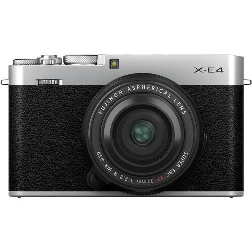 FUJIFILM X-E4 Mirrorless Digital Camera with XF 27mm f/2.8 R WR Lens (Silver)