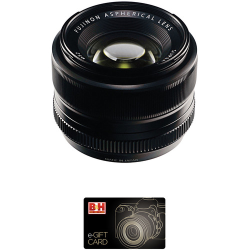 Fujifilm XF 35mm f/1.4 R Lens with $50 Gift Card Kit