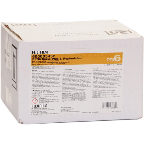 Fujifilm PRO6 Rinse Plus & Replenisher (12 x 10L)