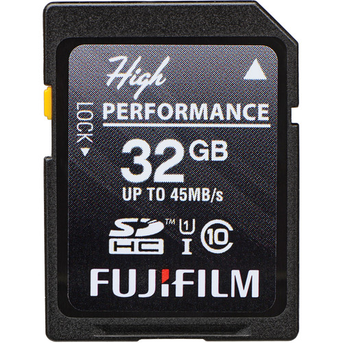 FUJIFILM 32GB High Performance UHS-I SDHC Memory Card (45 MB/s)