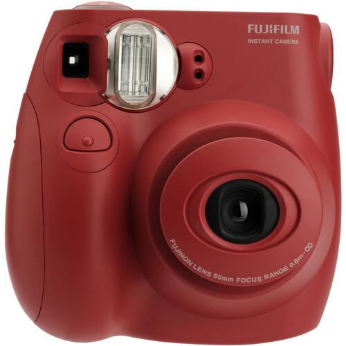 FUJIFILM INSTAX Mini 7S Instant Film Camera with 60mm Lens - Red