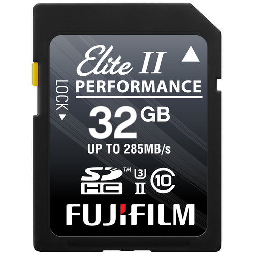 Fujifilm 32GB Elite II Performance UHS-II SDHC Memory Card
