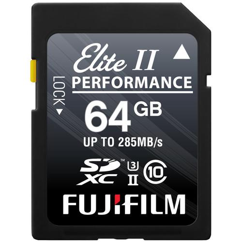Fujifilm 64GB Elite II Performance UHS-II SDXC Memory Card