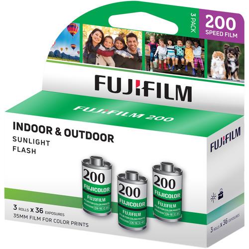Fujifilm Fujicolor 200 Color Negative Film (35mm Roll Film, 36 Exposures, 3-Pack)