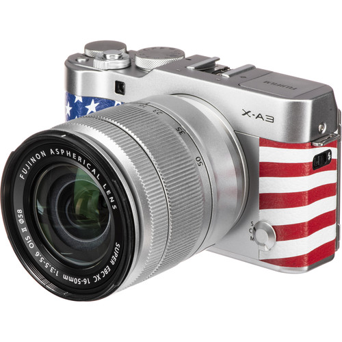 FUJIFILM X-A3 Mirrorless Digital Camera with 16-50mm Lens (Silver with USA Flag)