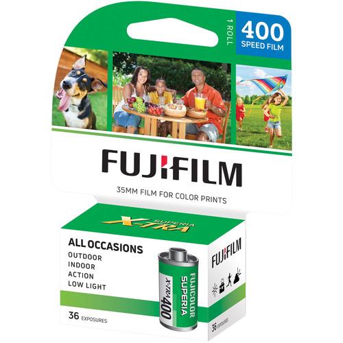 FUJIFILM Fujicolor Superia X-TRA 400 Color Negative Film (35mm Roll Film, 36 Exposures, 2018 Version)