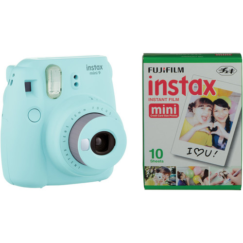 FUJIFILM INSTAX Mini 9 Instant Camera Bundle (Ice Blue)