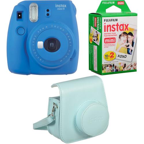 FUJIFILM INSTAX Mini 9 Instant Film Camera Bundle (Cobalt Blue)