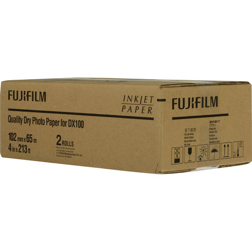 "Fujifilm Quality Dry Photo Paper for Frontier-S DX100 Printer (Lustre, 4"" x 213' Roll, 2-Pack)"