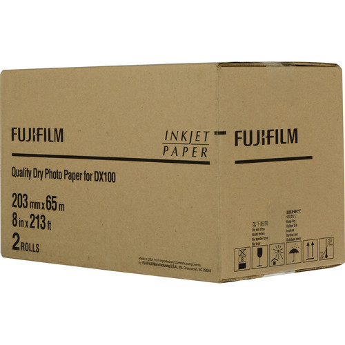 """FUJIFILM Quality Dry Photo Paper for Frontier-S DX100 Printer (Glossy, 8"""" x 213' Roll, 2-Pack)"""