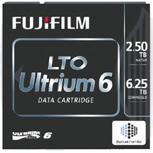 Fujifilm LTO Ultrium 6 Custom Bar-Code Labeled Data Cartridge (Library Pack of 20)