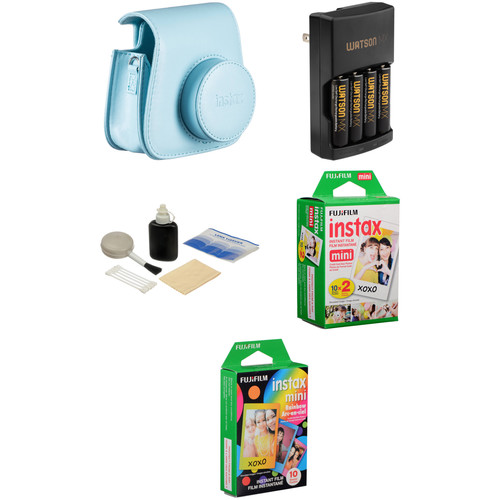 Fujifilm Camera Accessory & Film Kit for instax mini 8 Camera (Blue)