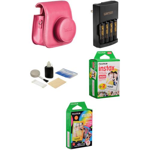 Fujifilm Camera Accessory & Film Kit for instax mini 8 Camera (Raspberry)