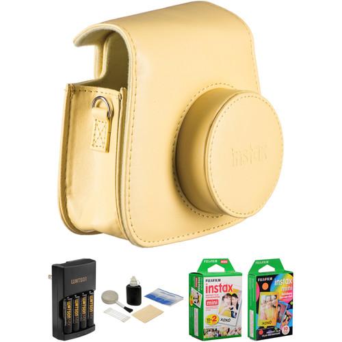 Fujifilm Camera Accessory & Film Kit for instax mini 8 Camera (Yellow)
