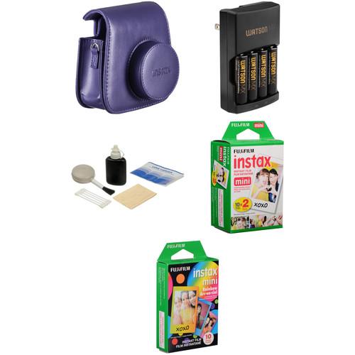 FUJIFILM Camera Accessory & Film Kit for INSTAX Mini 8 Camera (Grape)