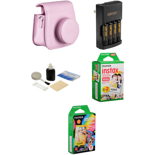 Fujifilm Camera Accessory & Film Kit for instax mini 8 Camera (Pink)