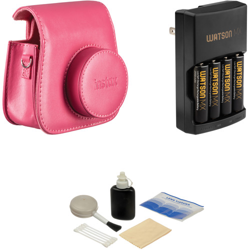 Fujifilm Camera Accessory Kit for instax mini 8 Camera (Raspberry)