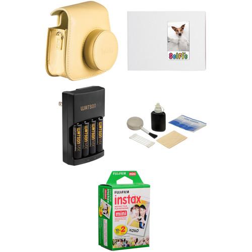 Fujifilm Complete Accessory Kit for instax mini 8 Camera (Yellow)
