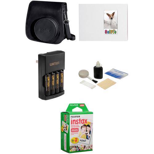 Fujifilm Complete Accessory Kit for instax mini 8 Camera (Black)