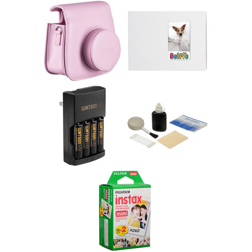 Fujifilm Complete Accessory Kit for instax mini 8 Camera (Pink)