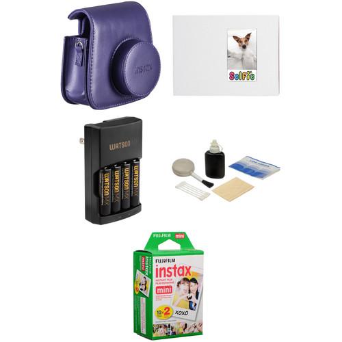 Fujifilm Complete Accessory Kit for instax mini 8 Camera (Grape)