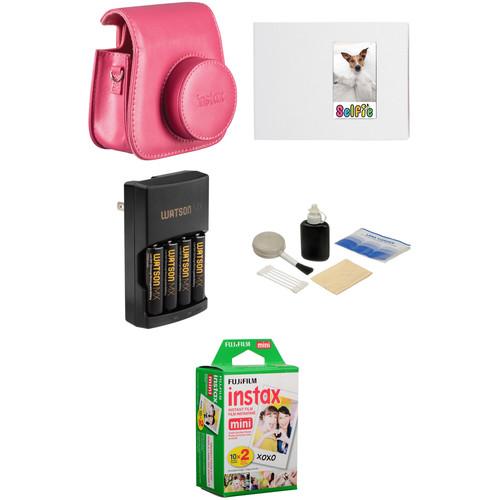 FUJIFILM Complete Accessory Kit for INSTAX Mini 8 Camera (Raspberry)