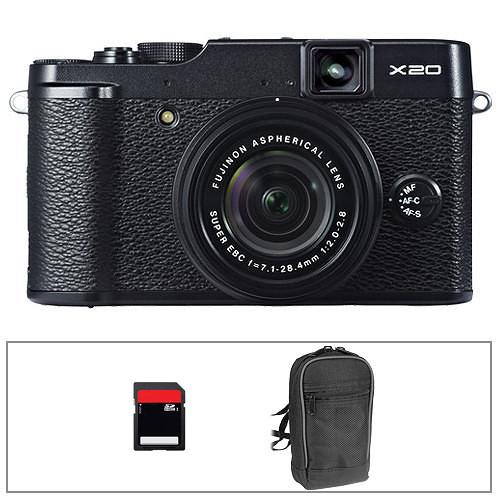 Fujifilm X20 Digital Camera Basic Kit (Black)