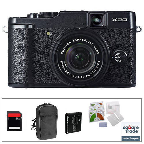 Fujifilm X20 Digital Camera Deluxe Kit (Black)