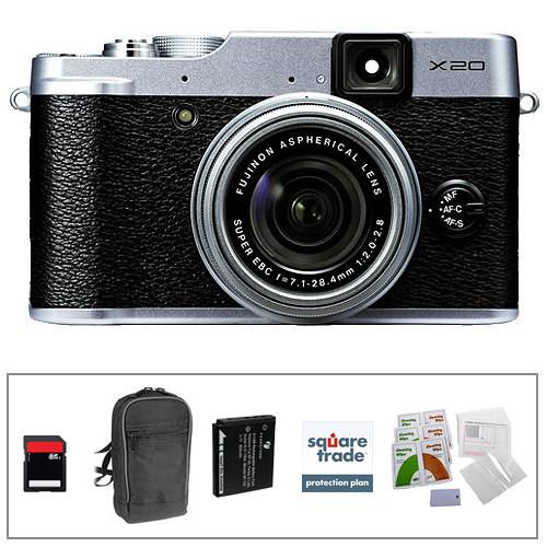 Fujifilm X20 Digital Camera Deluxe Kit (Silver)