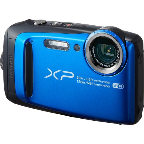 Fujifilm FinePix XP120 Digital Camera Deluxe Kit (Blue)