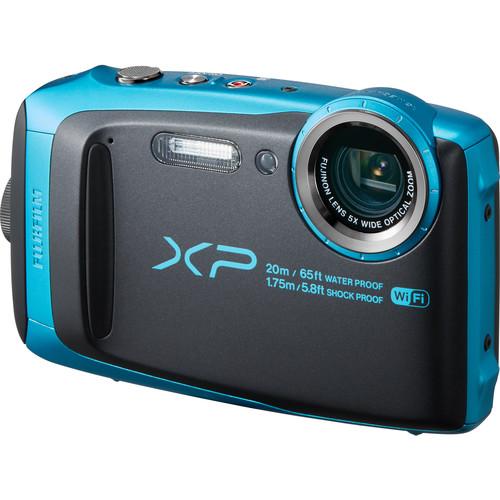 Fujifilm FinePix XP120 Digital Camera Deluxe Kit (Sky Blue)