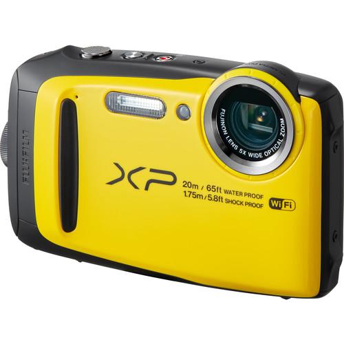 Fujifilm FinePix XP120 Digital Camera Deluxe Kit (Yellow)