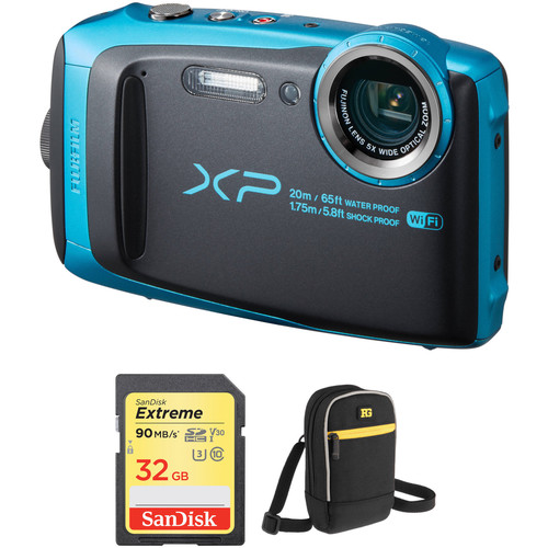 FUJIFILM FinePix XP120 Digital Camera Basic Kit (Sky Blue)