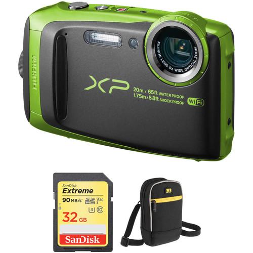 Fujifilm FinePix XP120 Digital Camera Basic Kit (Lime)