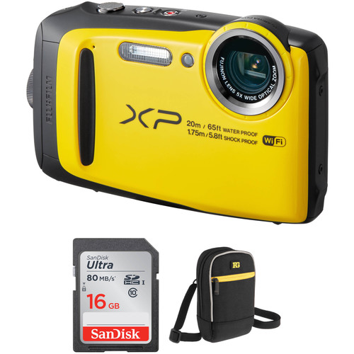 Fujifilm FinePix XP120 Digital Camera Basic Kit (Yellow)
