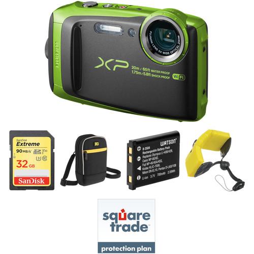 Fujifilm FinePix XP120 Digital Camera Deluxe Kit (Lime)